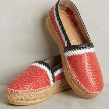 Penelope Chilvers Riviera Espadrilles in Red Motif Size: