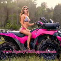 sexy and neon hot pink camouflage hunting bikini for sporty girl and country girls