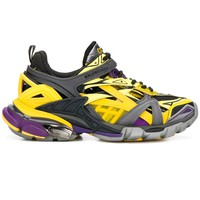 Ladies Track 2 Purple and Yellow Sneakers by Balenciaga