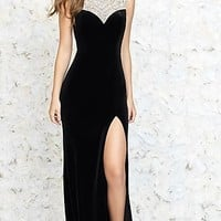 High Neck Floor Length Prom Dress by Madison James