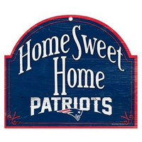 New England Patriots Wood Sign - Arched Home