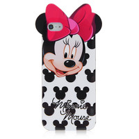 Black Minnie Mouse Case For iPhone 5 & 5S