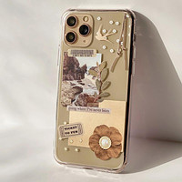 Going Places Collage Clear Phone Case