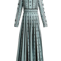 Bead-embellished pleated silk dress | Valentino | MATCHESFASHION.COM UK