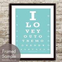 I Love You to the Moon and Back xoxo Eye Chart by TheWordShop