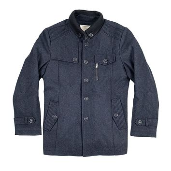 The Wilson Mandarin Short Trench Grey