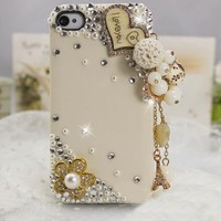 rhinestone handmade love ball case for iphone4/4s/5 from Fancy Mall