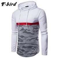 T-Bird Hoodies Men 2018 Brand Autumn Camouflage Print Sweatshirt Moletom Masculino Fashion Mens Hoodie Pullover Hip Hop Hoody