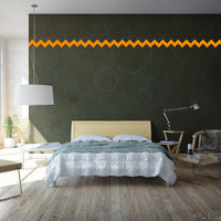 Chevron Wall Decoration - Removable Vinyl Wall Decal Art - Chevron Pattern Vinyl