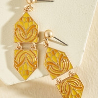 Modern Art Maven Earrings in Citrus | Mod Retro Vintage Earrings | ModCloth.com