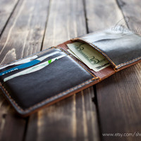 Mens leather wallet Slim wallet dark brown leather wallet men leather wallet minimal wallet travel wallet men's leather wallets thin wallet