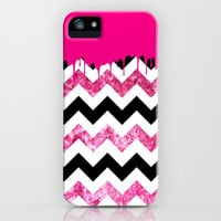 Dripping Chevron Pink - for iphone iPhone & iPod Case by Simone Morana Cyla