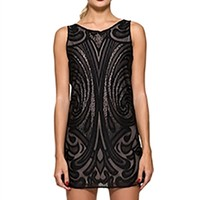 Benjamin Jay Evelyne Sleeveless Mini Dress in Black | ShopAmbience