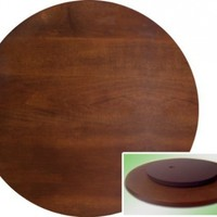 "22"" Espresso / Cappuccino Finish Large Lazy Susan"