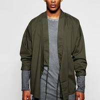 ASOS Military Kimono with Tie Front and Long Sleeves at asos.com