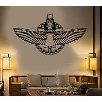 Vinyl Wall Decal Ancient Egypt Queen Cleopatra Egyptian Wings Stickers Unique Gift (1869ig)
