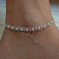 anklet,indian anklet,foot chain,gypsy foot jewelry,slave anklet,ankle bracelet,belly dance  jewelry,chain anklet,ethnic indian anklet