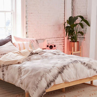 Neutral Tie-Dye Reversible Duvet Cover   Urban Outfitters