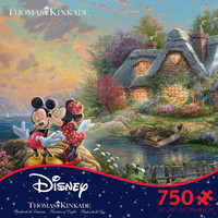 Thomas Kinkade Mickey & Minnie Jigsaw Puzzle in Ceaco's Disney Collection