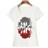 New Arrival T shirt women Stranger Things Design Ladies t-shirts Looking for the Upside Down T-Shirt Short Sleeve Tops Girl Tee