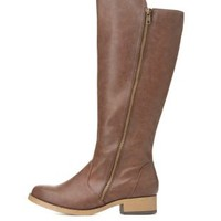 Flat Heel Riding Boots by Charlotte Russe