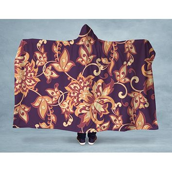 Purple Luxe Hooded Blanket