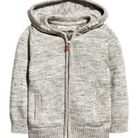 Hooded Knit Jacket - from H&M