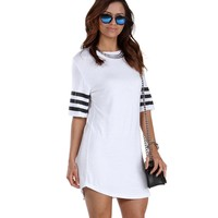 Promo-white Athletic Jersey Tunic