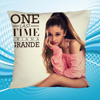 Pillow Custom Home Decor Ariana Grande Last Time Design Print 2 Side Cushion Square Size 16x16 18x18 20x20 inch