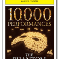 The Phantom of the Opera 10,000th Performance Limited Edition Commemorative Playbill