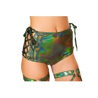 Roma Rave 3465 - High Waisted Shorts with Side Lace Up