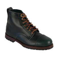 7 Hole Cap Toe Boots, Limited Collection Made in Maine, USA Loden Green