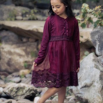 Sadie Plum Purple Lace Dress