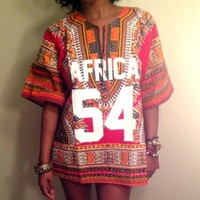 """The """"AFRICA LEADERS"""" Women's Jersey  (Red/Multicolor) 