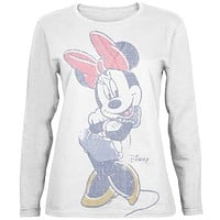 Minnie Mouse - Arms Crossed Juniors Long Sleeve T-Shirt