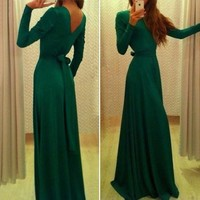 Vakind® Sexy Womens Ladies Prom Ball Cocktail Party Dress Formal Evening Gown (S=US4-US6, Green)
