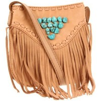 Lucky Brand Indigo Fringe Crossbody - designer shoes, handbags, jewelry, watches, and fashion accessories | endless.com