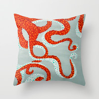 OCTOPUS Throw Pillow by Madeleine Thoma