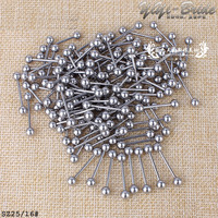 20Pcs Women Fashion Silver Stainless Steel Sexy Jewelry Body Jewelry Pierceing Tongue Nipple Bar Ring Barbell Piercing