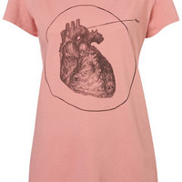 Heartbeat Lo Hi Tee By Second Son By T Squad - Brands At Topshop
