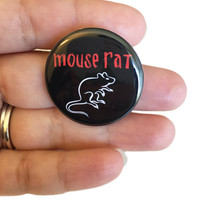 Mouse Rat Badge - Parks and Rec Badges - Parks and Recreation Pinback Button or Magnet