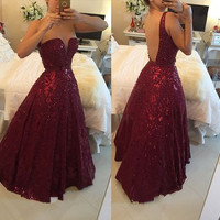 elegant burgundy evening dresses 2017 new backless lace pearls beaded a line formal dress women pageant gown vestido de festa