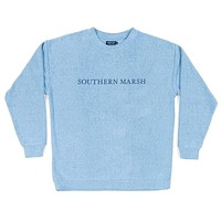 Sunday Morning Sweater in French Blue by Southern Marsh