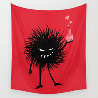 Evil Bug Made A Love Potion For You Wall Tapestry by borianagiormova