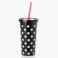 Insulated Tumbler in Black Dots by Kate Spade New York