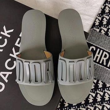 Dior letter slippers Shoes