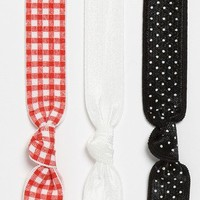 Emi-Jay 'Gingham' Hair Ties (3-Pack) | Nordstrom