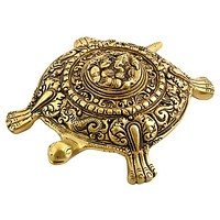 "Tortoise Carved with Lord Ganesh Design - 7.5""x5.5""x2"""