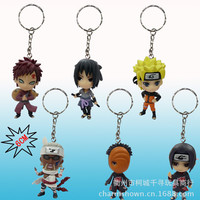 6pcs/set Naruto Keychain Action Figures Anime PVC brinquedos Collection Figures toys AnnO00637N