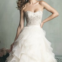 Ruffled Organza Gown by Allure Bridals